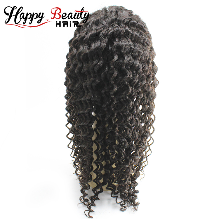 Real Human Hair Brazilian Virgin Deep Wave Lace Front Wig
